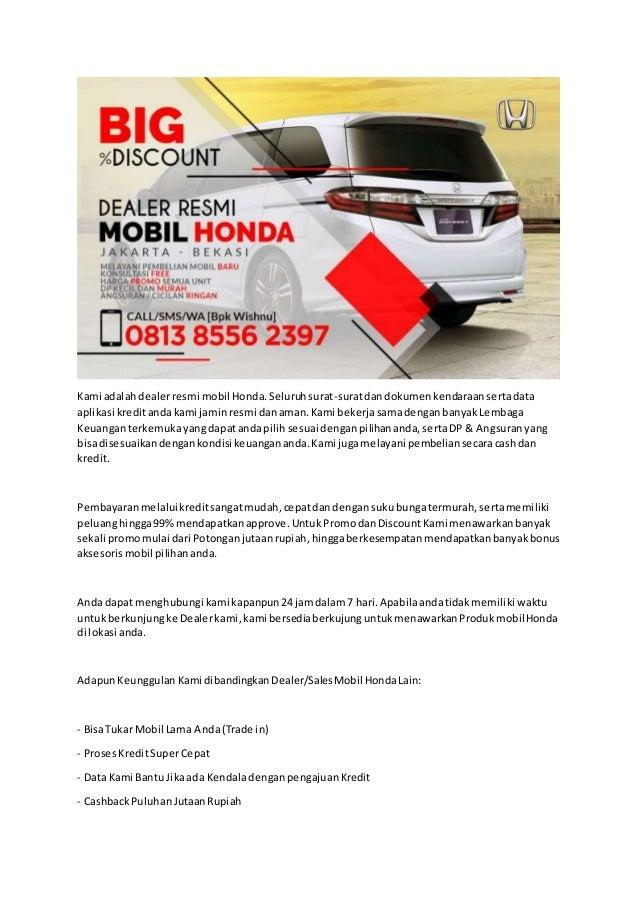 Big Discount Wa 0813 8556 2397 Promo Honda Mobil Baru Daftar