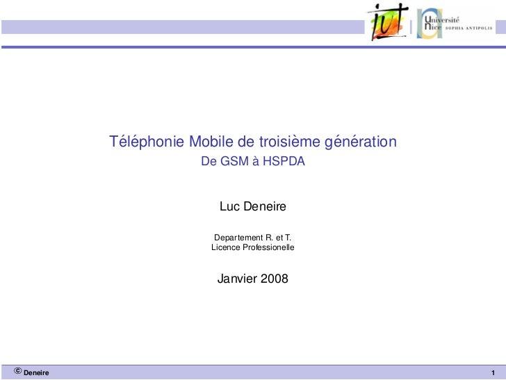 ´ ´                       `    ´ ´            Telephonie Mobile de troisieme generation                                `  ...