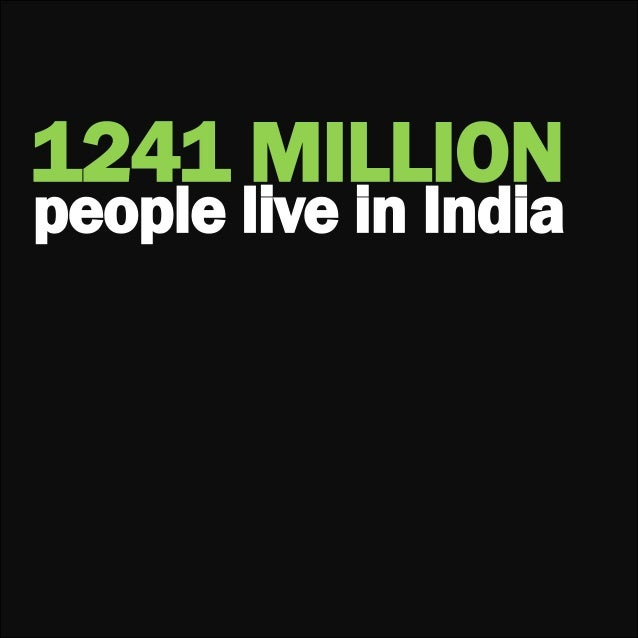 1241 MILLIONpeople live in India