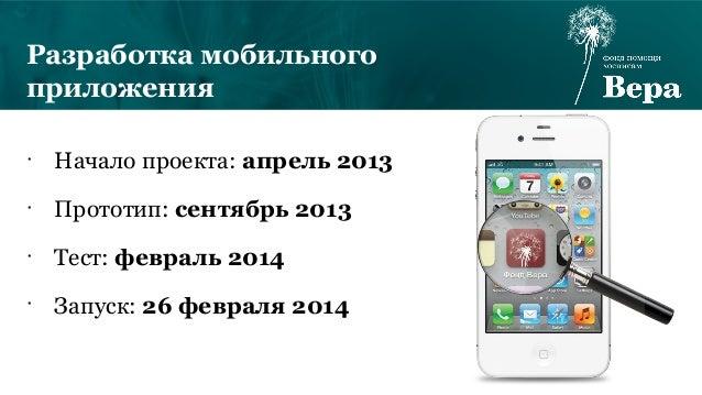 Мобильное приложение фонда «Вера»
