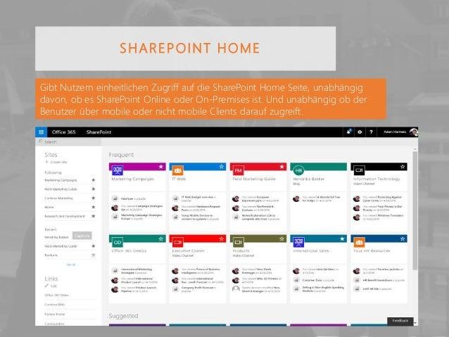 Gibt Nutzern einheitlichen Zugriff auf die SharePoint Home Seite, unabhängig davon, ob es SharePoint Online oder On-Premis...