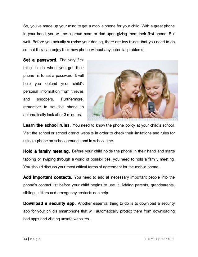 Mobile phones safety guide for parents ebook child a mobile device 13 fandeluxe PDF