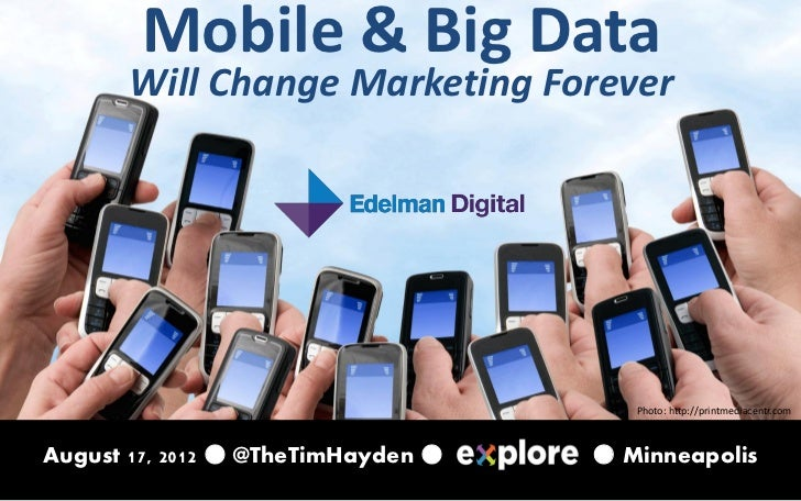 Mobile & Big Data       Will Change Marketing Forever                                       Photo: http://printmediacentr....