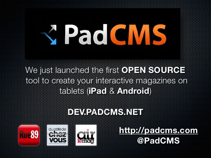We just launched the first OPEN SOURCEtool to create your interactive magazines on          tablets (iPad & Android)       ...