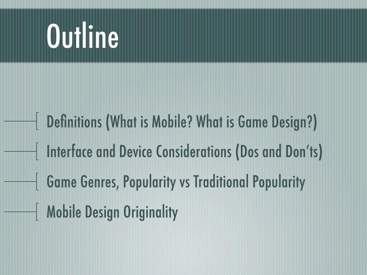 Mobile game design Slide 2