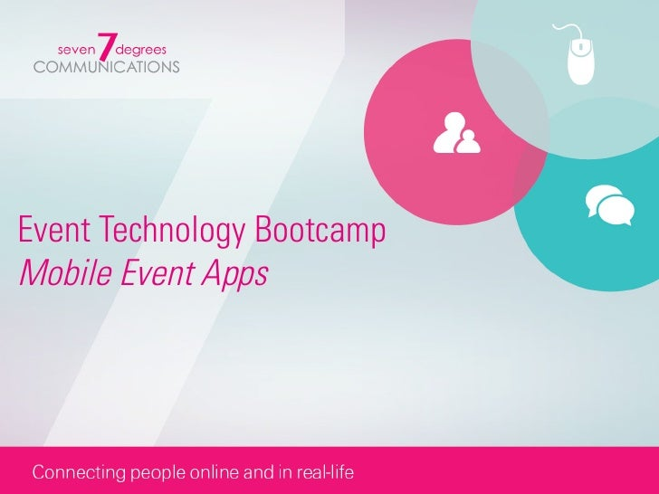 Event Technology BootcampMobile Event Apps