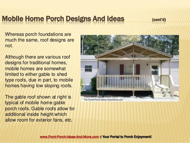 Porch Design Ideas For Mobile Homes