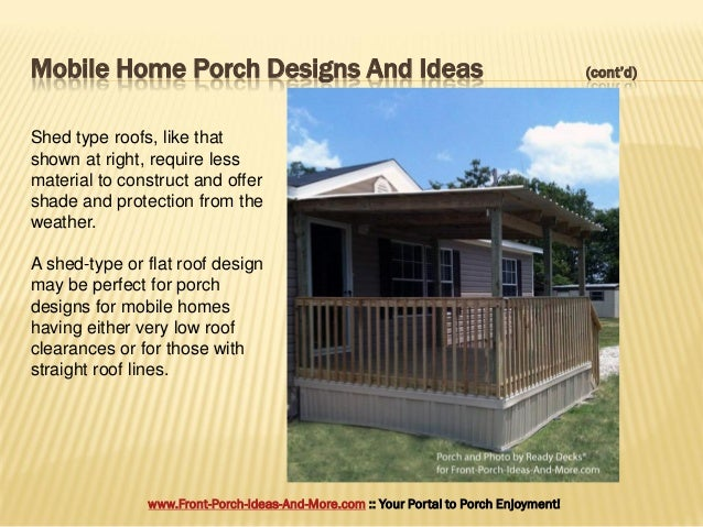 Contd 5 Mobile Home Porch Designs