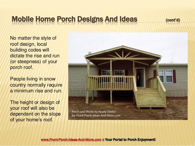 Porch design ideas for mobile homes for How to build a front porch on a mobile home