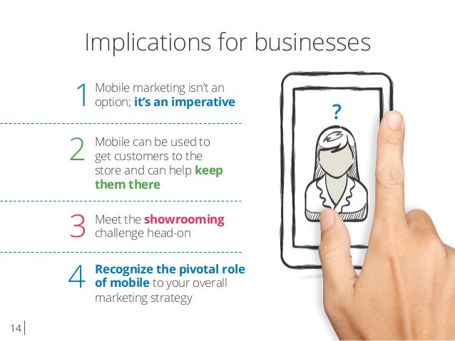 14 Implications for businesses Mobile marketing isn't an option; it's an imperative Mobile can be used to get customers to...
