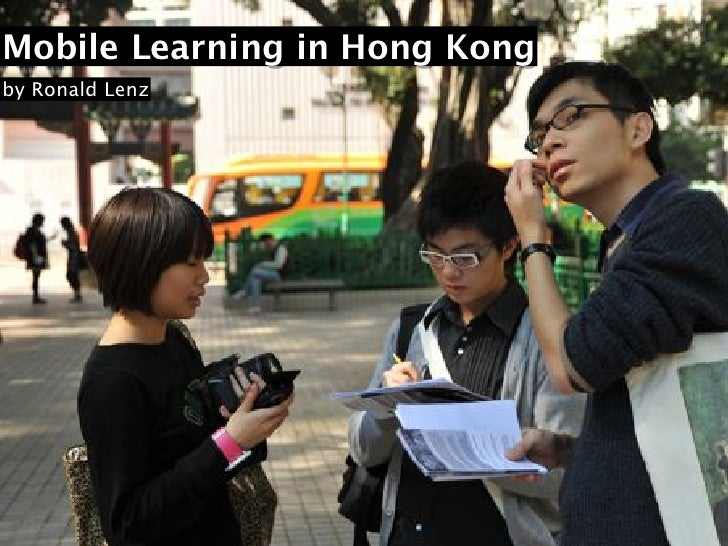 Mobile Learning in Hong Kong by Ronald Lenz