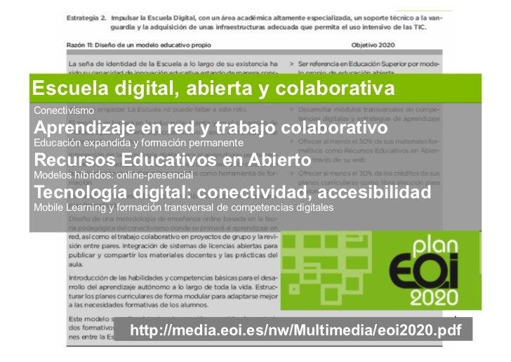 Mobile learning. EOI escuela digital. Tíscar Lara Slide 2