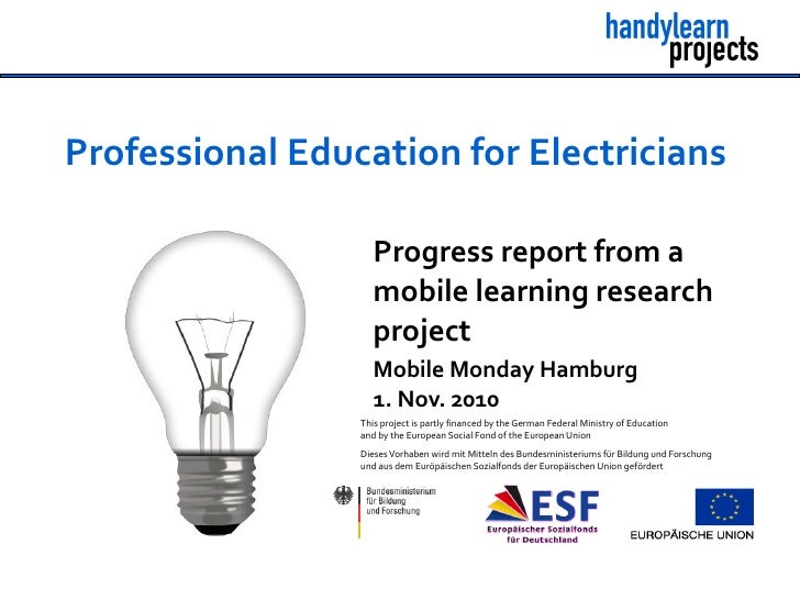 Professional Education for Electricians                      Progress report from a                     mobile learning re...