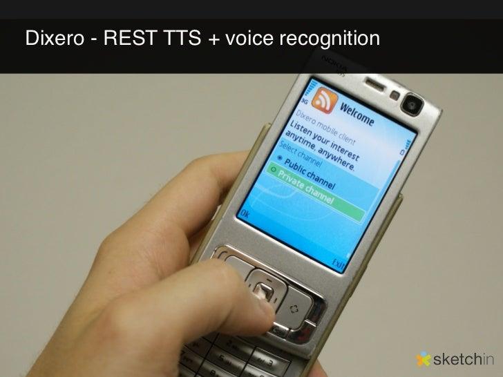 Dixero - REST TTS + voice recognition