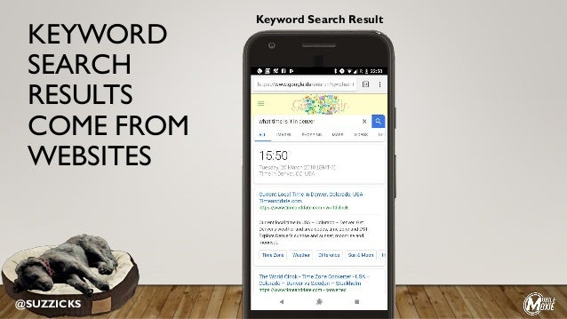 KEYWORD SEARCH RESULTS COME FROM WEBSITES @SUZZICKS Keyword Search Result