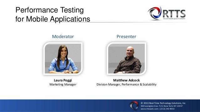 © 2013 Real-Time Technology Solutions, Inc. 360 Lexington Ave. FL 9, New York, NY 10017 www.rttsweb.com | (212) 240-9050 P...