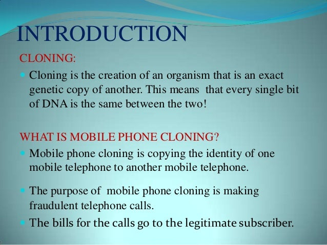 Mobile phone-cloning Slide 3