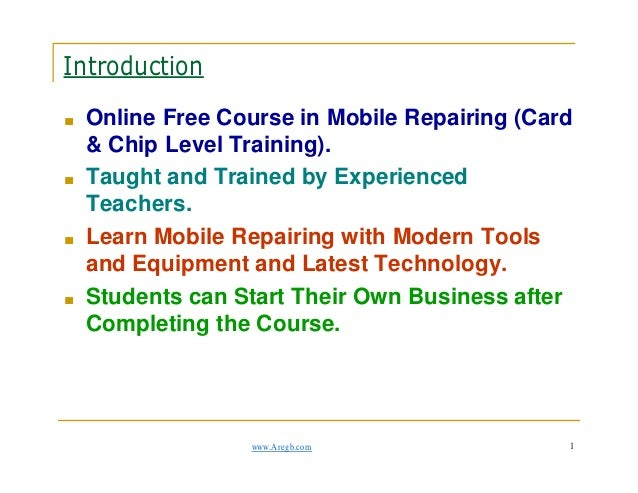 Mobile phone repair online Course