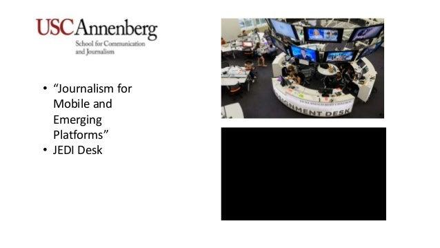 """• """"Journalism for Mobile and Emerging Platforms"""" • JEDI Desk"""