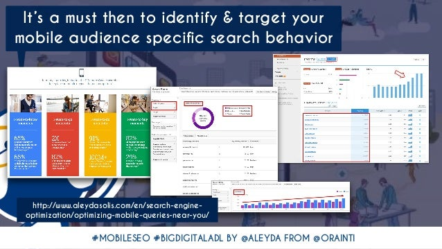 #MOBILESEO #BIGDIGITALADL BY @ALEYDA FROM @ORAINTI It's a must then to identify & target your mobile audience specific sea...