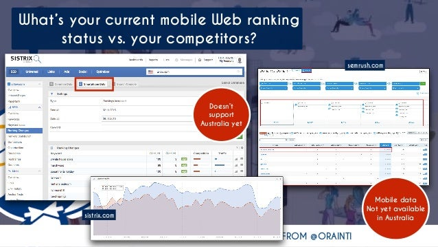 #MOBILESEO #BIGDIGITALADL BY @ALEYDA FROM @ORAINTI What's your current mobile Web ranking status vs. your competitors? sem...