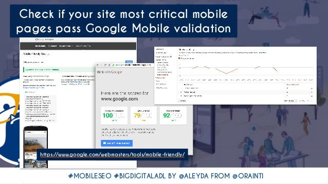 #MOBILESEO #BIGDIGITALADL BY @ALEYDA FROM @ORAINTI Check if your site most critical mobile pages pass Google Mobile valida...