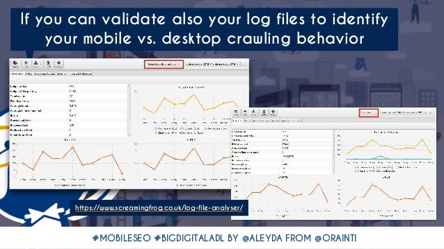 #MOBILESEO #BIGDIGITALADL BY @ALEYDA FROM @ORAINTI If you can validate also your log files to identify your mobile vs. des...