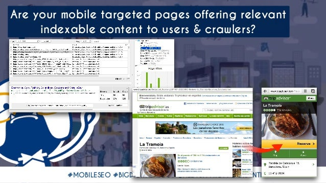 #MOBILESEO #BIGDIGITALADL BY @ALEYDA FROM @ORAINTI Are your mobile targeted pages offering relevant indexable content to u...