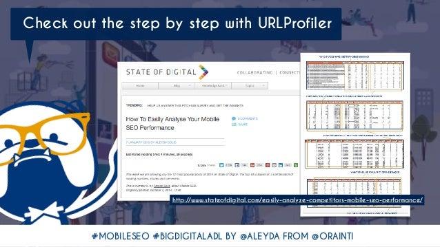 #MOBILESEO #BIGDIGITALADL BY @ALEYDA FROM @ORAINTI http://www.stateofdigital.com/easily-analyze-competitors-mobile-seo-per...