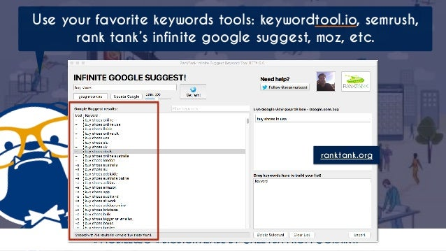 #MOBILESEO #BIGDIGITALADL BY @ALEYDA FROM @ORAINTI Use your favorite keywords tools: keywordtool.io, semrush, rank tank's ...