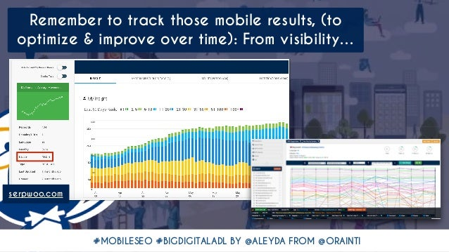 #MOBILESEO #BIGDIGITALADL BY @ALEYDA FROM @ORAINTI Remember to track those mobile results, (to optimize & improve over tim...