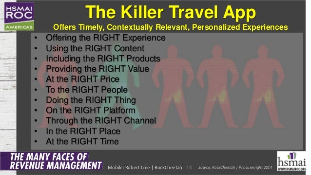 The Killer Travel App Offers Timely, Contextually Relevant, Personalized Experiences • Offering the RIGHT Experience • Usi...