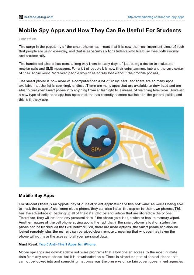net mediablog.com http://netmediablog.com/mobile-spy-appsMobile Spy Apps and How They Can Be Useful For StudentsLinda Wate...