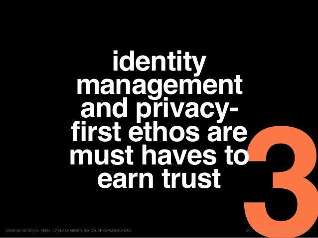 3© 2015 ERIC BRYN. ALL RIGHTS RESERVED.COMM 261 201 SOCIAL MEDIA, LOYOLA UNIVERSITY, SCHOOL OF COMMUNICATIONS identity man...