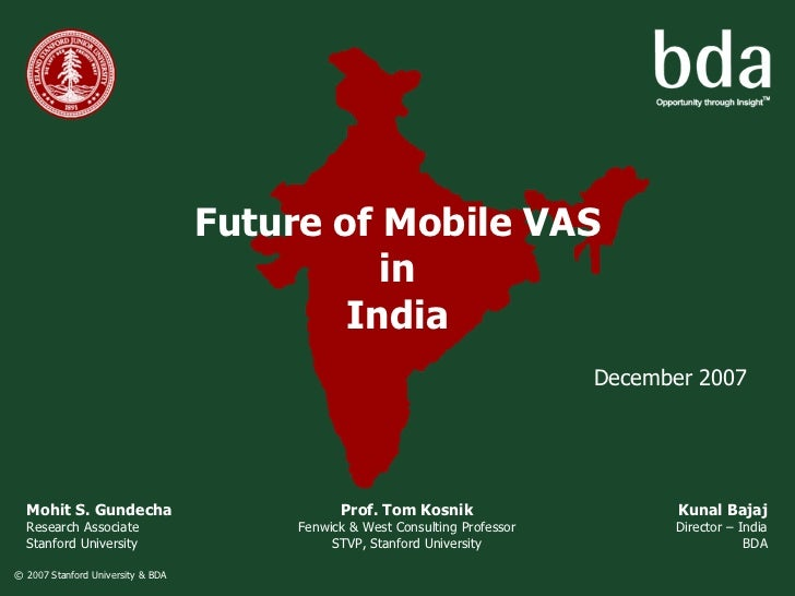 Future of Mobile VAS                                              in                                            India     ...