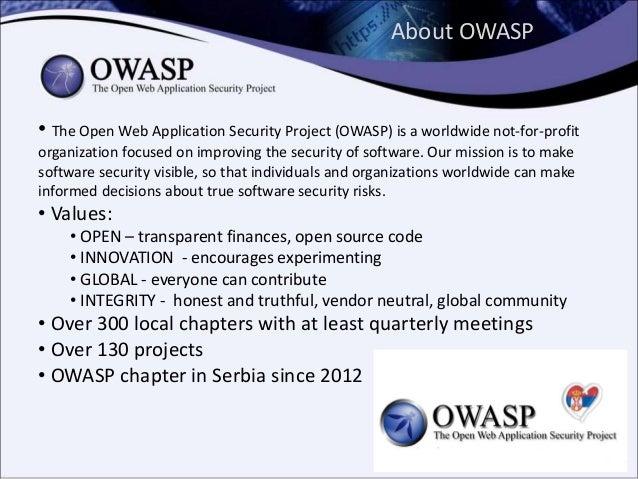 Mobile security, OWASP Mobile Top 10, OWASP Seraphimdroid Slide 2