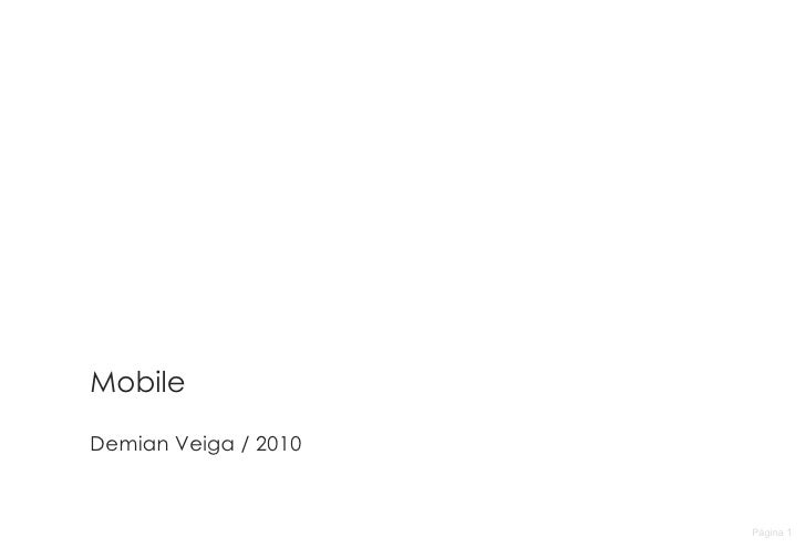 Página  Mobile Demian Veiga / 2010
