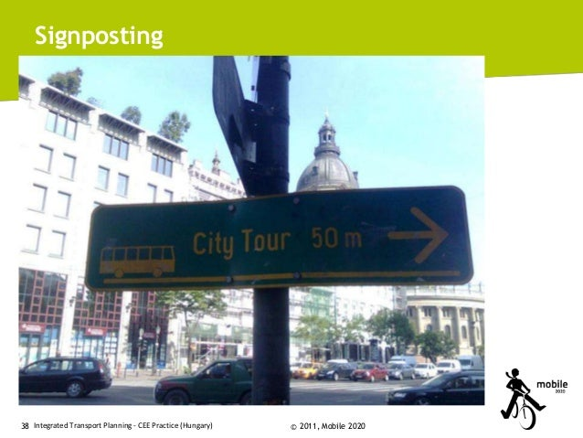Signposting  38 Integrated Transport Planning - CEE Practice (Hungary)  © 2011, Mobile 2020