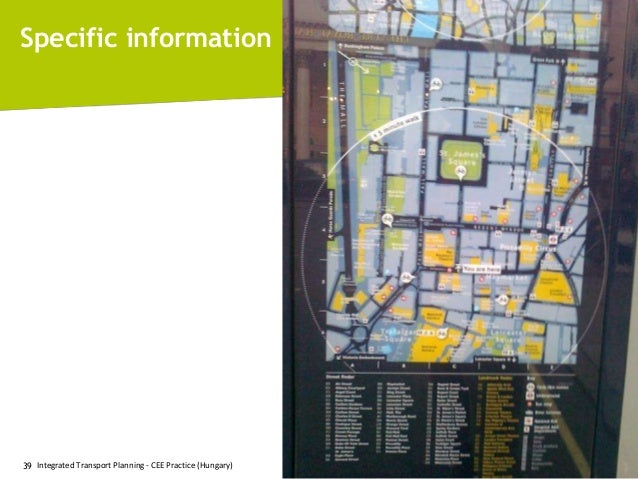 Specific information  39 Integrated Transport Planning - CEE Practice (Hungary)  © 2011, Mobile 2020