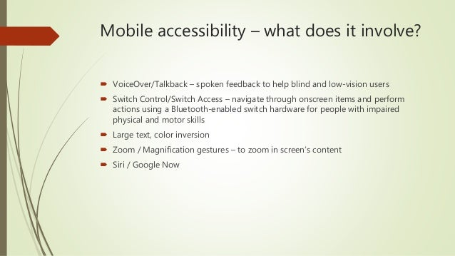 Mobile Accessibility - How To Become Socially Responsible