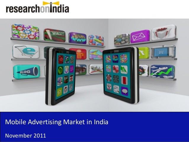 Mobile Advertising Market in India November 2011