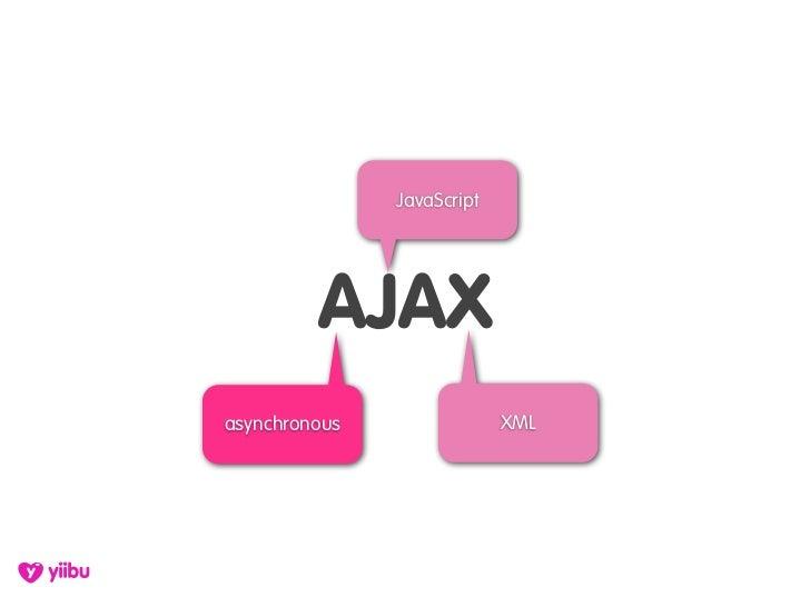 JavaScript              AJAX asynchronous                XML