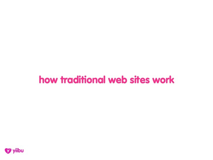 how traditional web sites work