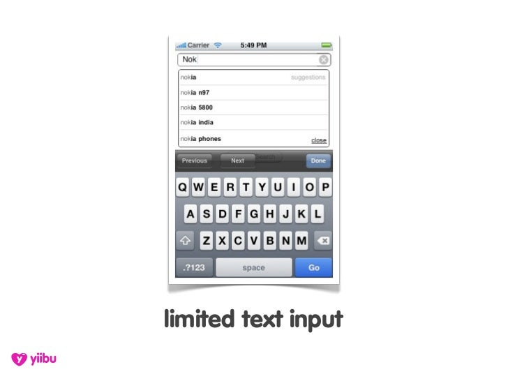 limited text input