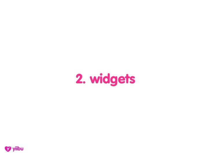 2. widgets