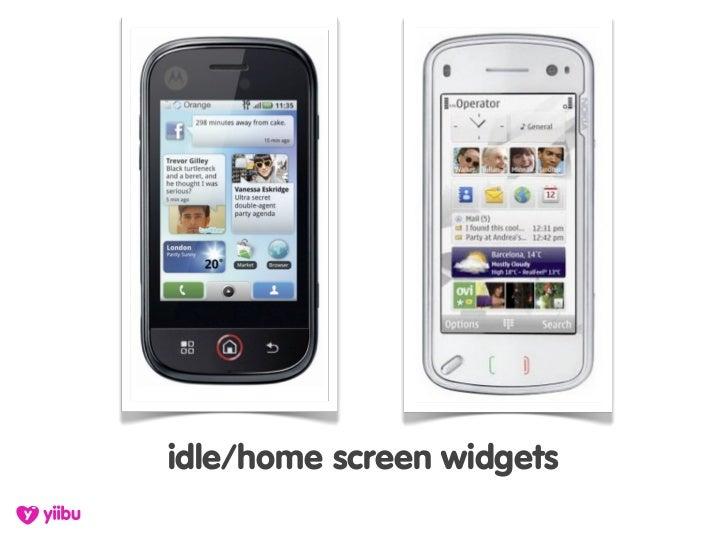 idle/home screen widgets
