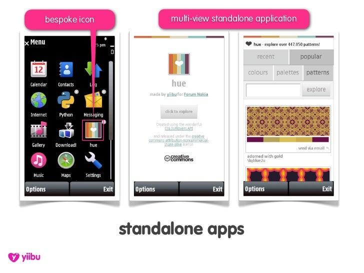 bespoke icon         multi-view standalone application                    standalone apps