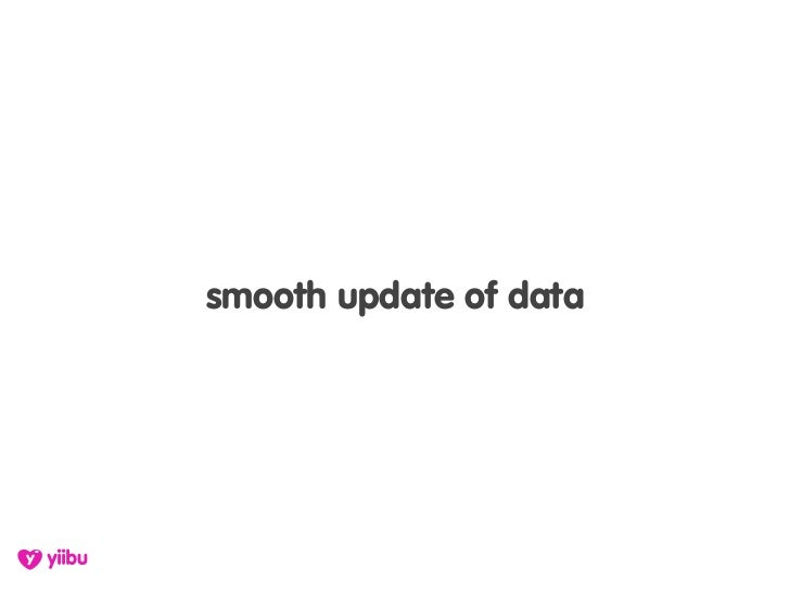 smooth update of data