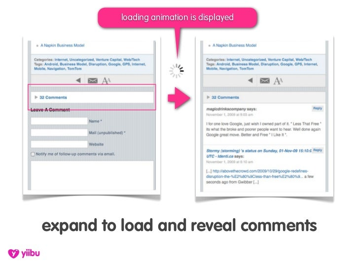 loading animation is displayed     expand to load and reveal comments