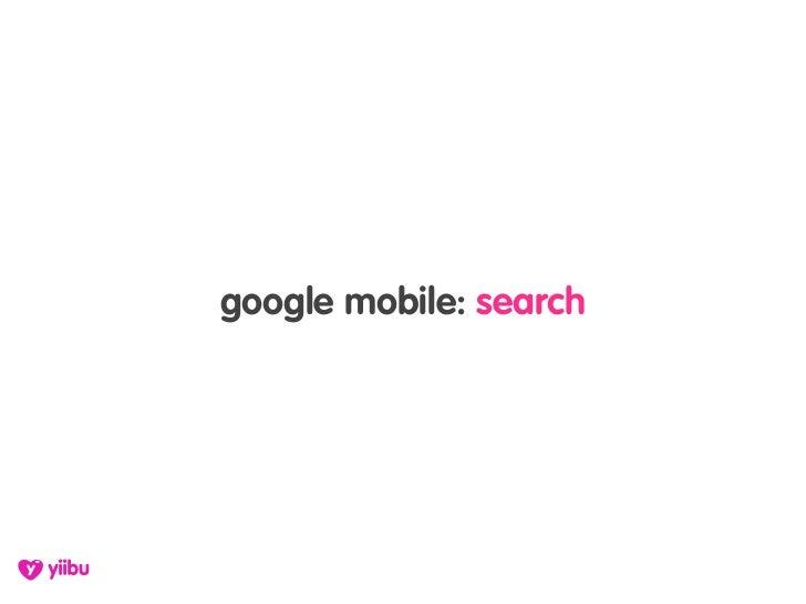 google mobile: search
